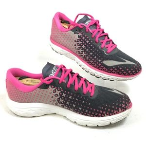 Brooks Shoes - Brooks Pure Flow 5 Pink/Blk/Gray Mesh Running Shoe